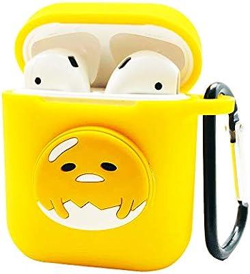 Funda Airpods Accesorios Airpods Funday Piel Protectoras de Silicona con mosquetón y Correas Airpods para Apple Airpods Estuche de Carga (Amarillo-DHG): Amazon.es: Electrónica