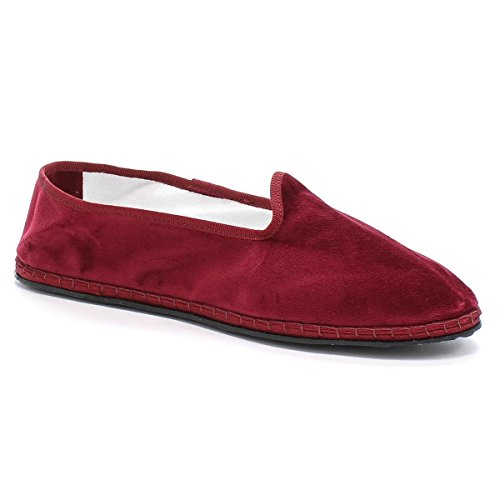 La Clautana Pantofola Luxury Slippers Furlane Velluto Bordeaux 45