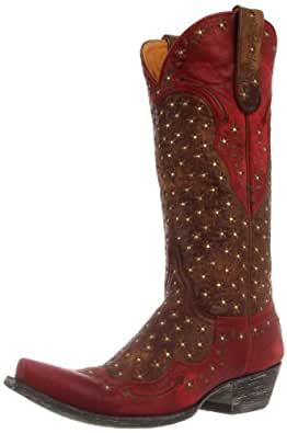 Old Gringo Women's Tabetha Western Boot,Brass/Red,8.5 B US