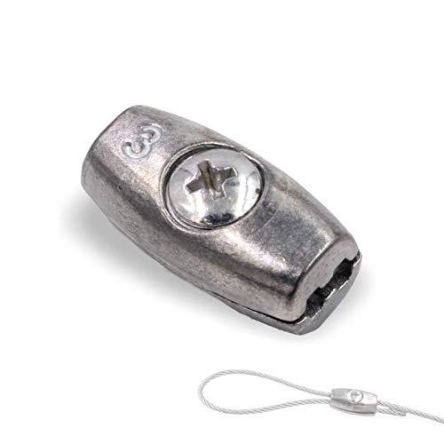 10x EIFORM Seilklemmen NG3 f/ür Seile von /Ø2,0mm bis /Ø3,0mm Drahtseilklemme zum Schrauben Stahl verzinkt