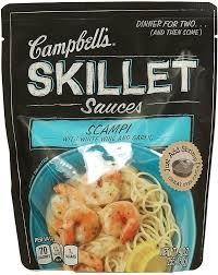 Campbell's, Skillet Sauces, Scampi with White Wine and Garlic, 9oz Pouch (Pack of (Garlic Wine)