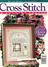 - CROSS STITCH AND COUNTRY CRAFTS JANUARY-FEBRUARY 1996 BETTER HOMES AND GARDENS MAGAZINE WITH FLOWERS SAMPLER ON FRONT COVER