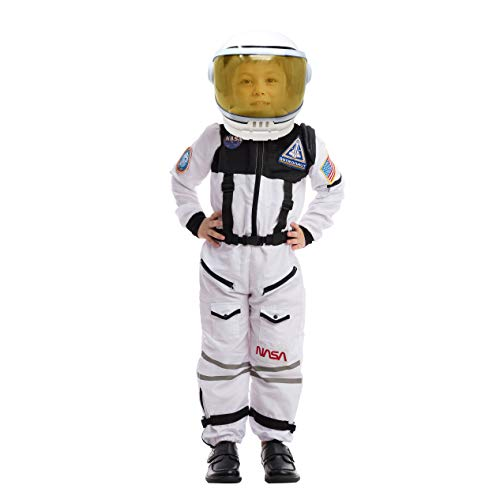 Astronaut NASA Pilot Costume with Movable Visor Helmet for Kids, Boys, Girls, Toddlers Space Pretend - http://coolthings.us
