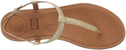 Leather Women's Gold Thong Pale 308 Fitflop Open Toe Gold Sandals Tia BHdPwqxSX
