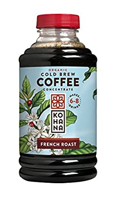 Kohana Cold Brew Coffee Concentrate, Decaf Flavor, 16 ounces, Fair Trade Coffee, Iced Coffee, Energy Drink, Low-Acid Instant Coffee, Gluten Free, Vegan, Serves 6-8