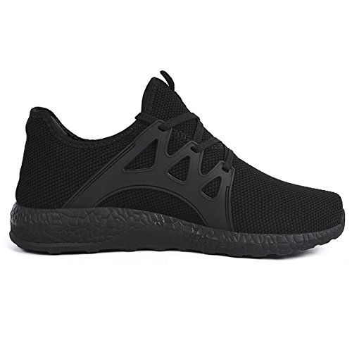Mens Athletic Casual Shoes (Feetmat Men's Sneakers Lightweight Breathable Mesh Gym Casual Shoes 11 D(M) US, Black)