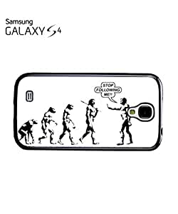 Stop Following Me Evolution Mobile Cell Phone Case Samsung Galaxy S4 Black
