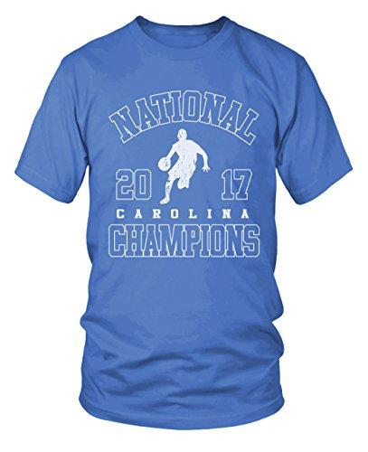 - NCAA UNC National Champions Basketball March Madness, North Carolina Tarheels Champs T-Shirt- (Black) Large