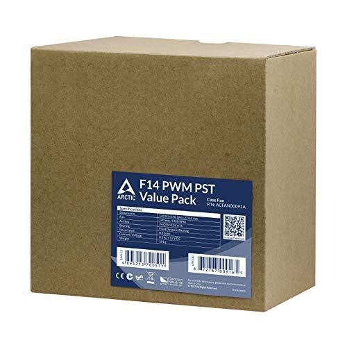 ARCTIC P14 PST 72.8 CFM 140 mm Fans 5-Pack