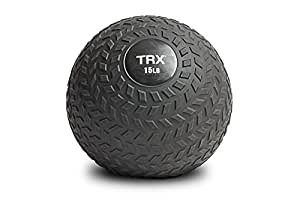 TRX Training Slam Ball with Easy-Grip Textured Surface and Ultra-Durable Rubber Shell (6 Pound)