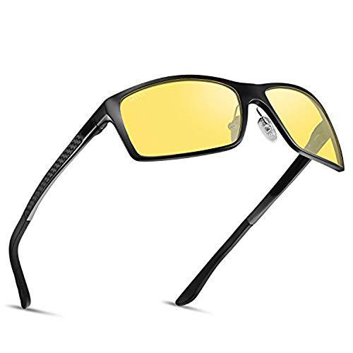 HD Polarized Night Driving Glasses Anti-Glare Day Nighttime safety Sunglasses ()