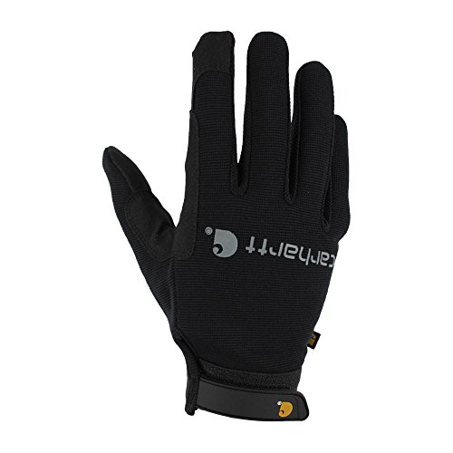 Carhartt Men's The Fixer Spandex Work Glove with Water Repellant Palm, Black, X-Large