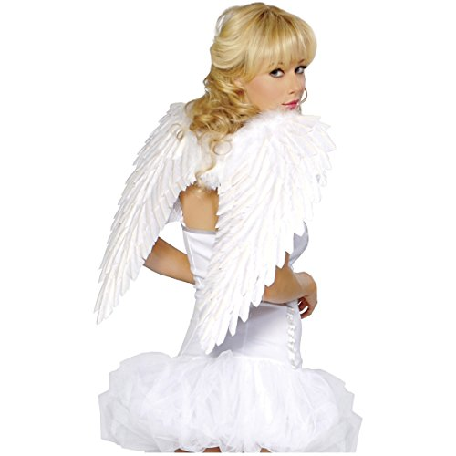 White Swan Ballerina Costume (Feather Wings Costume Accessory)