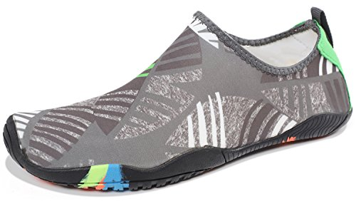Z Barefoot Swim Women Leaf Beach Quick Shoes Water Shoes Swim Sports Heeta Men Socks thick Aqua Gray for Dry PwZBf4gx