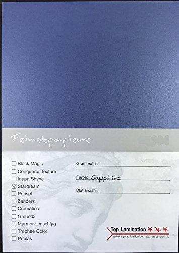 25fogli di carta DIN A4blu metallizzato 285g/m² di Top Lamination–completamente colorata, possibile impiego: inviti, fogli supplementari per album, matrimoni biglietti, Album fotografico, Poster, manifesti, artigianato, Hobby e molto altro ancora