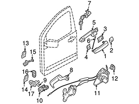 Amazon Com Nissan 80500 9fg0a Door Lock Actuator Motor Automotive