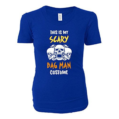 [This Is My Scary Bag Man Costume Halloween Gift - Ladies T-shirt Royal Ladies XL] (Bag Lady Halloween Costume)