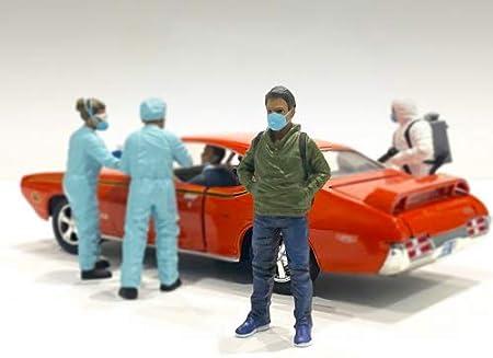 Hazmat Crew Figurine V for 1/24 Scale Models by American Diorama 76371