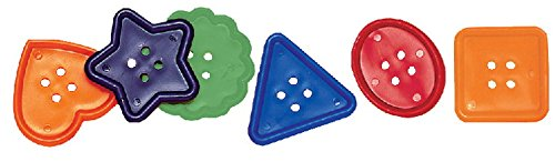Creativity Street Assorted Shape Colossal Button, 2 Inches, Assorted Color, Pack of 30