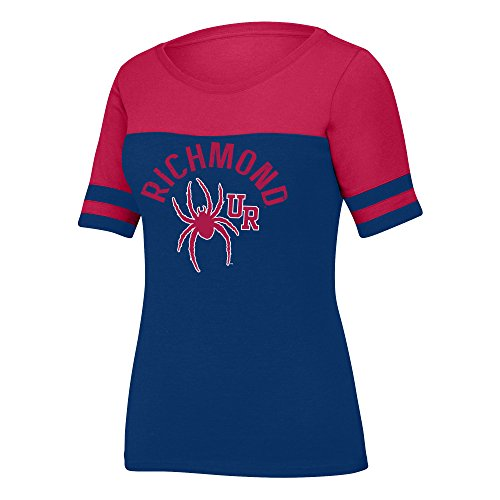 (J America NCAA Richmond Spiders Women's Stadium Tee, X-Large, Navy/Red)