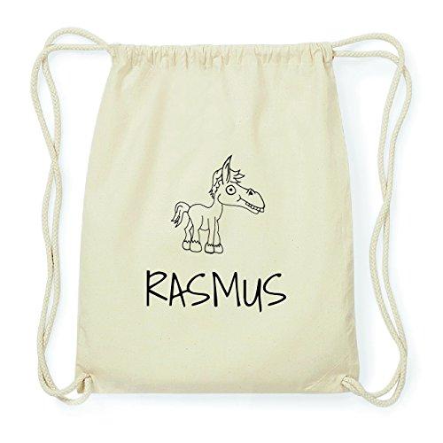 JOllipets RASMUS Hipster Turnbeutel Tasche Rucksack aus Baumwolle Design: Pferd S5yv4c0