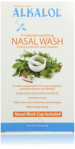 - Alkalol Natural Soothing Nasal Wash, Mucus Solvent and Cleaner Kit, 16 Ounce