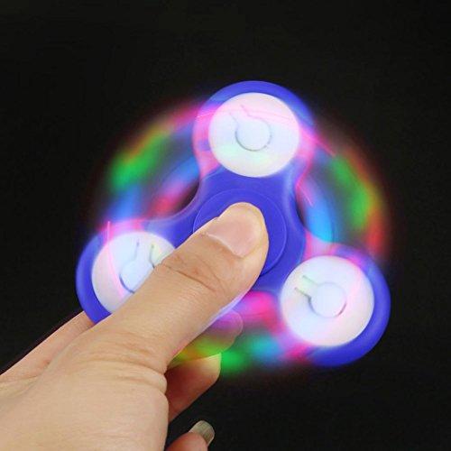 LED Light Fidget Hand Spinner Torqbar Finger Toy EDC Focus Gyro Fast Shipping