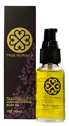 True Moringa Oil (Tranquility - Lavender), 100% Pure Cold-Pressed Moringa Oil for Face, Body, Hair, 1 oz.(30 mL)