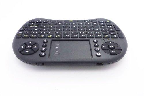 iParaAiluRy El nuevo teclado inalámbrico de 2,4 GHz RF-500 Negro Mini panel de control táctil Con Disposición de los EEUU para la caja PC / Smart TV / TV ...