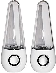 Stereo Music LED Dancing Water Fountain Light Speakers For iPad iPhone PC Laptop
