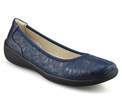 Décontracté Feuillet Marine Marche Des Plat Chaussures Été Sur Des Femmes Bleu Nouveau Les Dames Confort Pompes Large Stretchies De 1T0XAA
