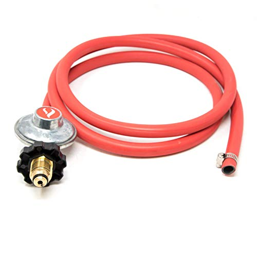 (GasOne 2103 Gas One 6ft Propane Regulator POL and Hose Clamp Style Kit for LP/LPG Most LP/LPG Gas Grill, Heater and Fire Pit Table - Works Best with Older U.S. Propane Tanks)
