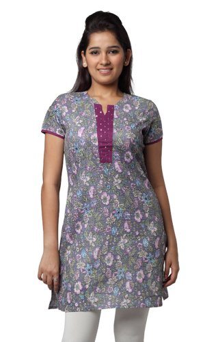 Women's Indian MixNMatch Kurta Grey X-Small by In-Sattva