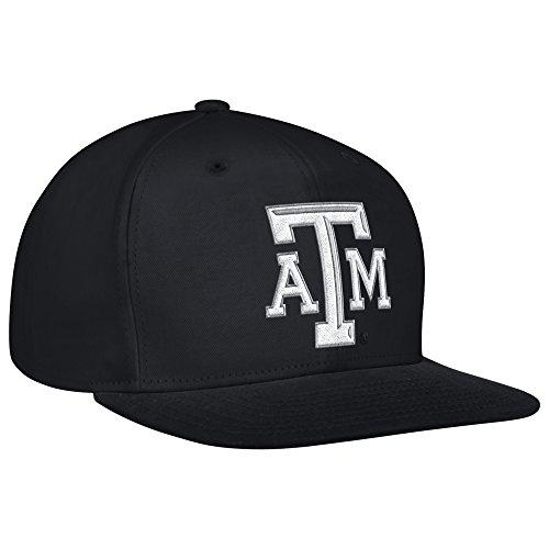 NCAA Texas A&M Aggies Men's Flat Brim Snapback Cap, One Size, Black