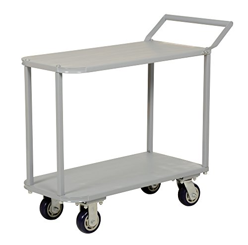 Vestil STC-1835 Two Tier Service Cart with Deck, 2200 lb, 39