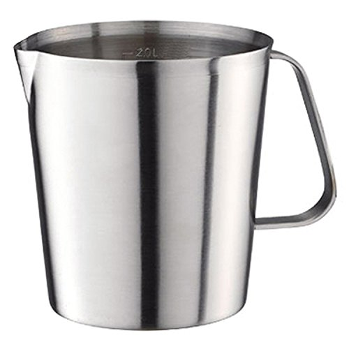 2000ml Stainless Steel Coffee Milk Pitcher Frothing Cup - SILVER - 1