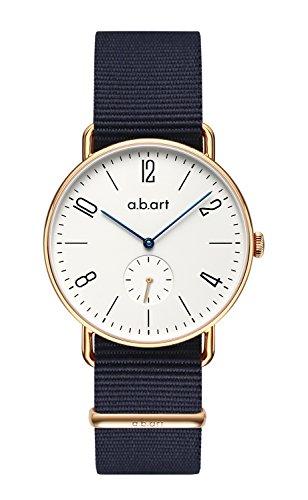 a.b.art FN41-001-5N Roman Numeral Rose Gold Sapphire Crystal Bauhaus Watches for Men Big Gig Watch
