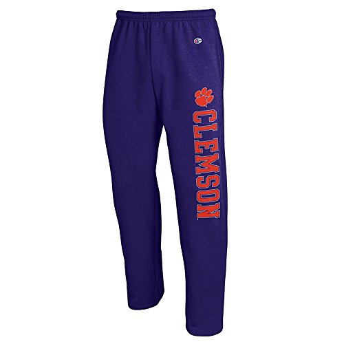 Clemson Tigers Sweatpants Pockets Purple - L - University Tigers Pocket