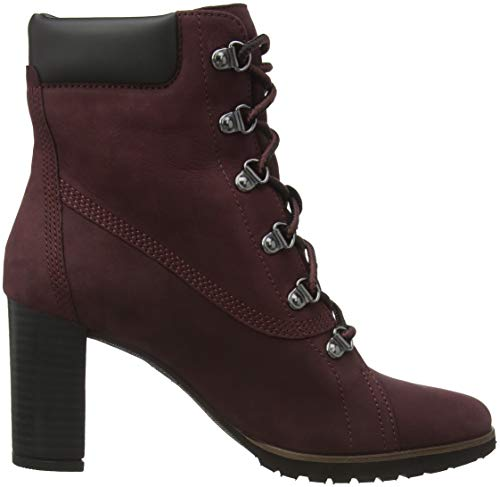 Classiques Timberland Port Nubuck dark Bottes C60 Anne Femme Rouge Leslie OwrqwtCT