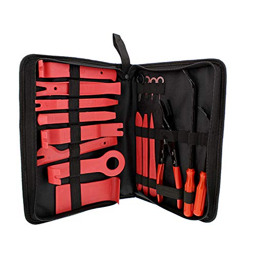 ABN Auto Door Panel Removal Tool Kit Car Trim Removal Tool, Plastic Trim Tool Kit Automotive Panel Remover Tool 19pc