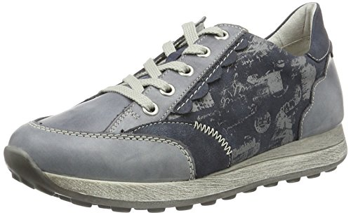 Low 4 Sneakers Hellgrau 14 Grey UK Remonte Atlantis Blue Jeans Top Jeans Women's D1808 wPnxFqIOEY