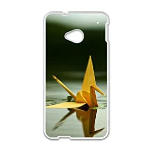 Personalized Creative Cell Phone Case For HTC M7,water paper crane by lolosakes