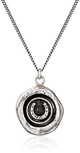 "Pyrrha talisman"" Sterling Silver Horseshoe Necklace"