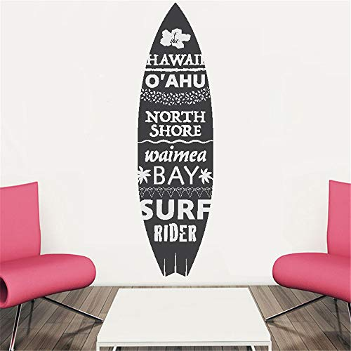 Vinyl Wall Art Inspirational Quotes and Saying Home Decor Decal Sticker Beach Theme Wall Sticker Hawaii Surfboard for Living Room Bedroom -