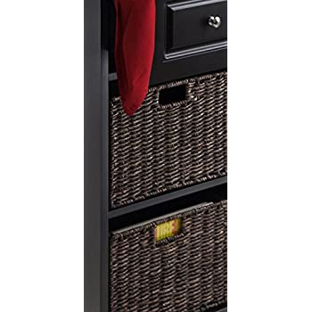 Winsome Wood Wyatt Tall Cabinet with Baskets, Drawer, Door