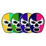 By Mexico Portavasos PVC Modelo Máscaras de Luchadores colores set de 4