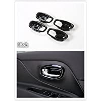 FMtoppeak 4 pcs Car Inner Door Handle Bowl Cover Trim Frame for Jeep Renegade 2014 UP Black