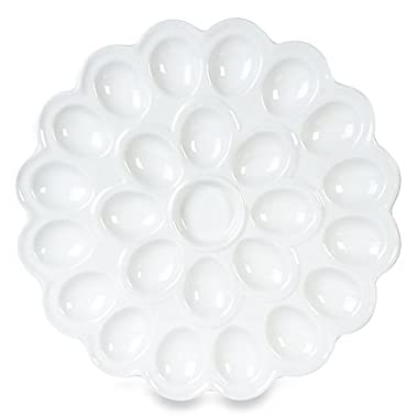 Flower Egg Platter with flower pattern design