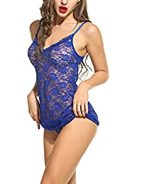 Avidlove Sexy Lingerie for Women Babydoll Sleepwear Lace Chemises Set