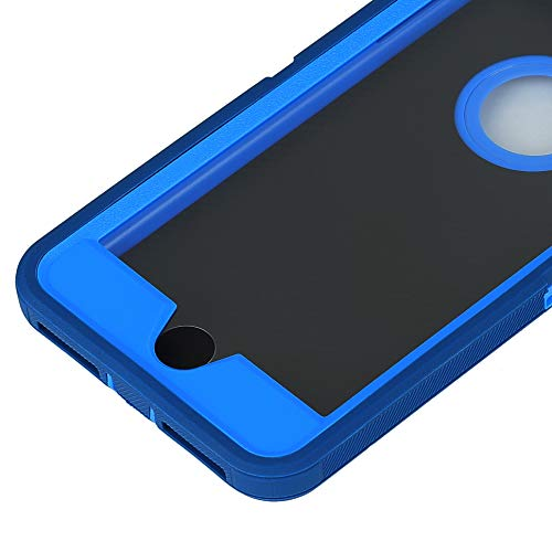 Case for iPhone 7 Plus/8 Plus,Heavy Duty 3 in 1 Built-in Screen Protector Cover Dust-Proof Shockproof Drop-Proof Scratch-Resistant Shell for Apple iPhone 7+/8+ 5.5inch,Navy Blue